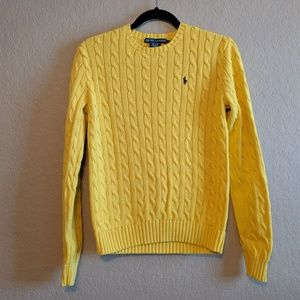 Polo Ralph Lauren Gold Cable Knit Sweater
